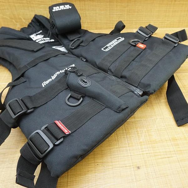 マズメ MZX コンタクトライフジャケット MZXLJ-052 ブラック/P531M フローティングベスト ライフジャケット 美品|tsuriking|05