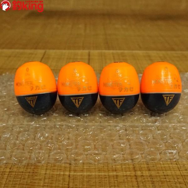 釣研 ウキ モンスターフカセ 4個セット 1/ST1007S 磯釣り フカセ 仕掛け ウキSET tsuriking