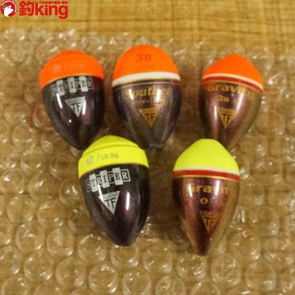 釣研 ウキ グラビティ、ストライパー、サウザーLS 5個セット/ST1022S 磯釣り 仕掛け ウキセット|tsuriking