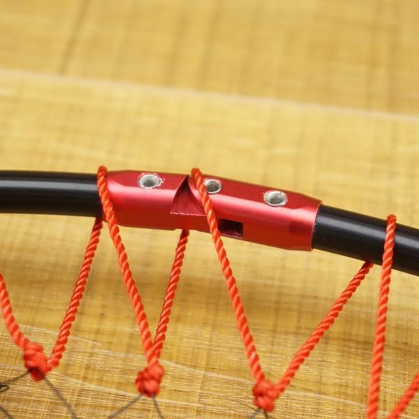 がまかつ がま磯 タモ枠 四つ折りジュラルミン GM-835 45cm タモ網付/S197M 美品 たも網 tsuriking 08