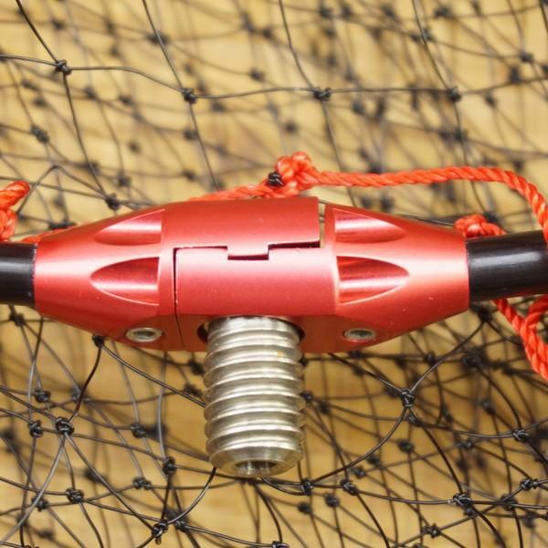 がまかつ がま磯 タモ枠 四つ折りジュラルミン GM-835 45cm タモ網付/S197M 美品 たも網 tsuriking 09