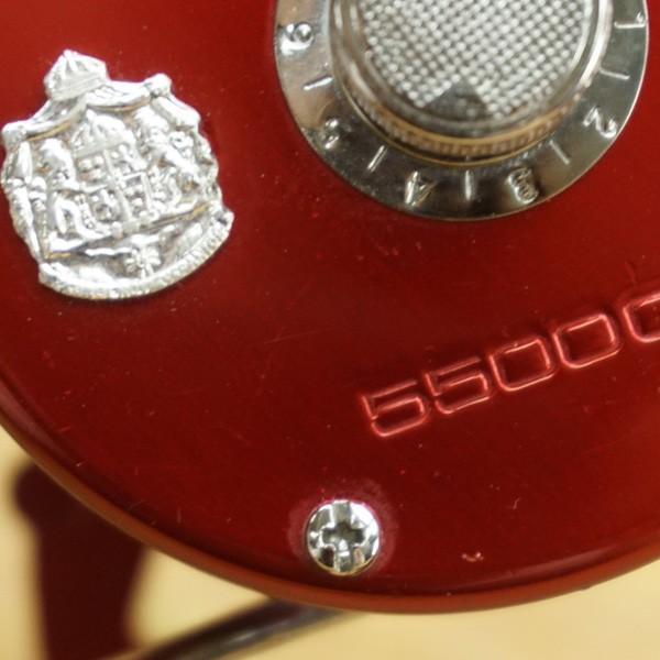 アブガルシア アンバサダー 5500C レッド 07008 カスタムハンドル付/S277M 美品 tsuriking 04