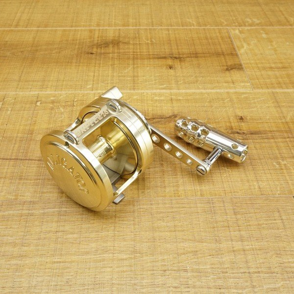 アリゲーター バトル 20 ゴールド 純正ハンドル付/S557M 美品 両軸リール|tsuriking|02