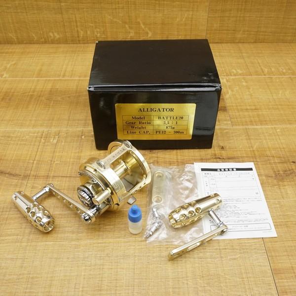 アリゲーター バトル 20 ゴールド 純正ハンドル付/S557M 美品 両軸リール|tsuriking|10
