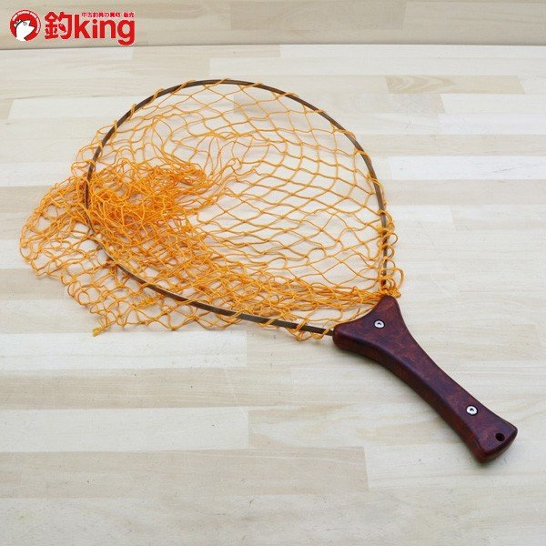 アングロ&カンパニー フォールディング ネット 花梨 オレンジ/B191M 未使用 釣り タモ 網 枠 柄 すくう ネット フィッシング|tsuriking