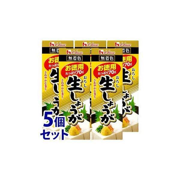 《セット販売》 ハウス食品 おろし生しょうが お徳用 (70g)×5個セット 薬味 ※軽減税率対象商品