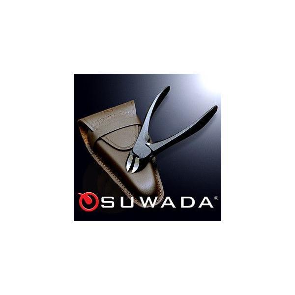 SUWADA ニッパー 爪切りブラック&本牛革ケースセット 諏訪田製作所 スワダ つめ切り