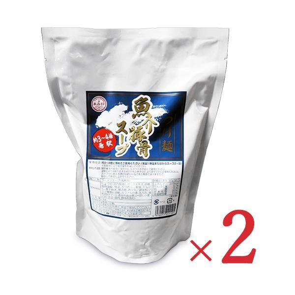 あみ印 つけ麺 魚介豚骨スープ 1kg × 2袋