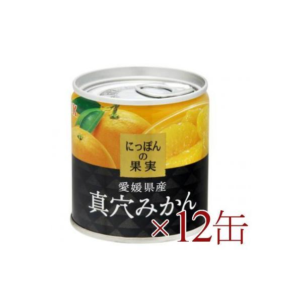 にっぽんの果実 愛媛県産 真穴みかん 190g ×12缶 [K&K]