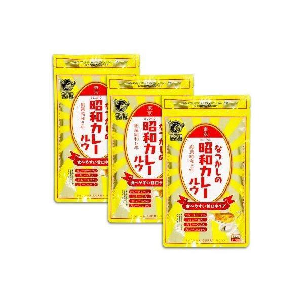 水牛印 なつかしの昭和カレールウ 甘口 120g × 3袋 水牛食品 メール便で送料無料
