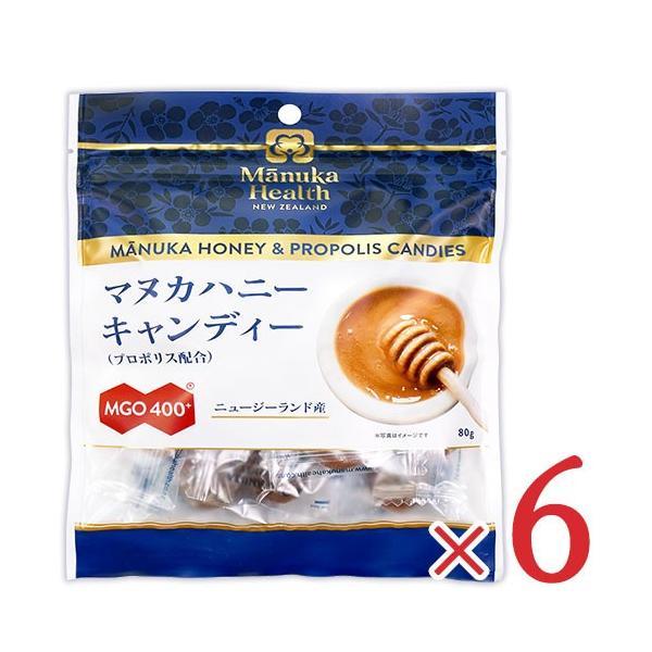 マヌカヘルス マヌカハニーキャンディー プロポリス配合 80g × 6袋 セット