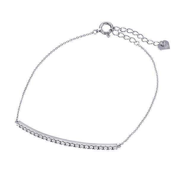 ツツミ ブレスレット K18 ホワイトゴールド ダイヤモンド ブレスレット 18金 バー プレゼント 人気