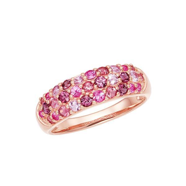 ツツミ 指輪 リング K10 ピンクゴールド マルチストーン マルチカラー ハヴェ ピンク 人気 プレゼント ギフト
