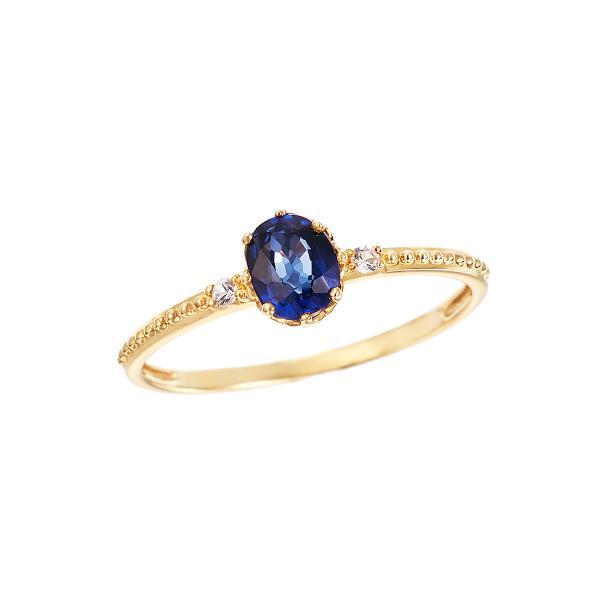 ツツミ 指輪 K10イエローゴールドサファイアリング