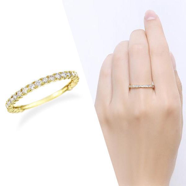 ツツミ 指輪 K18イエローゴールド ダイヤモンド リング(0.5カラット )18金 エタニティ プレゼント 人気