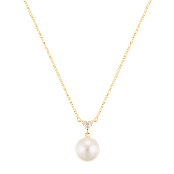 ツツミ ネックレス K18 イエローゴールド アコヤ真珠 ネックレス(7.5mm)18金 ダイヤモンド フォーマル 上品