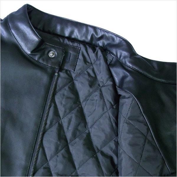 和柄 ジャケット アウター 刺繍 ドクロ PUレザー  中綿入り|tsutsumiya|04