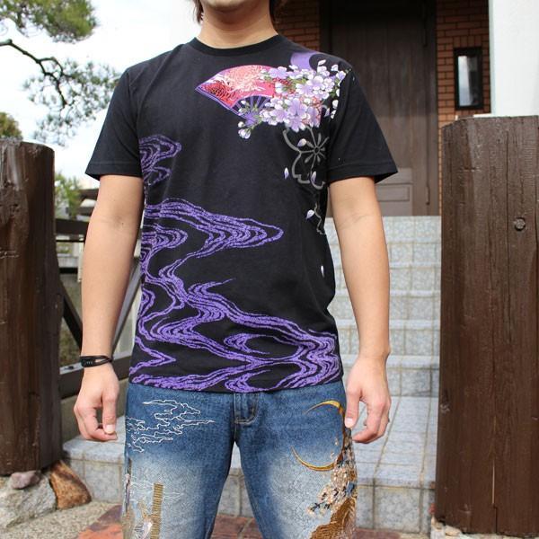 和柄 Tシャツ 半袖 刺繍 メンズ 大きいサイズ 花魁 2018年新作 tsutsumiya 02