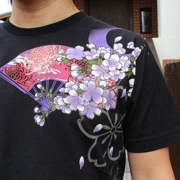 和柄 Tシャツ 半袖 刺繍 メンズ 大きいサイズ 花魁 2018年新作 tsutsumiya 03