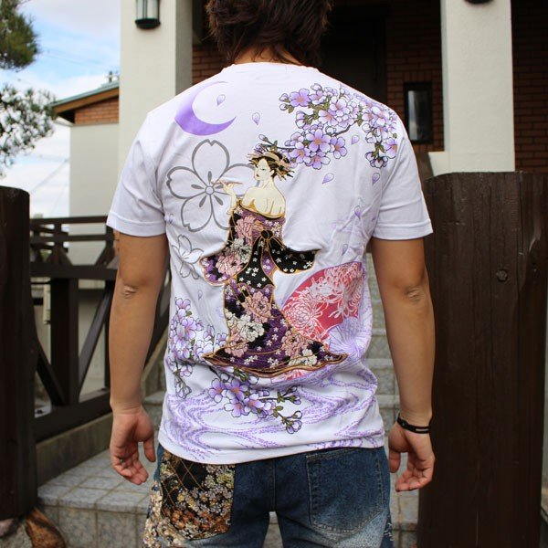 和柄 Tシャツ 半袖 刺繍 メンズ 大きいサイズ 花魁 2018年新作 tsutsumiya 05