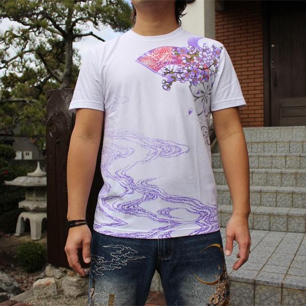 和柄 Tシャツ 半袖 刺繍 メンズ 大きいサイズ 花魁 2018年新作 tsutsumiya 06