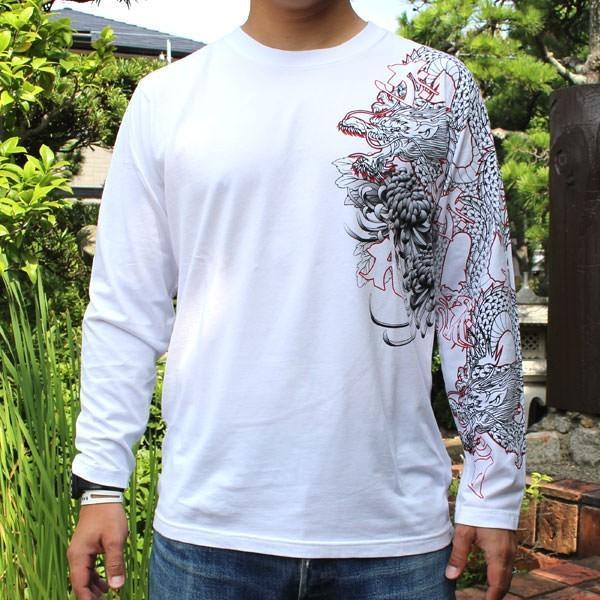 和柄 Tシャツ 長袖 メンズ 不動明王 刺繍 大きいサイズ|tsutsumiya|04