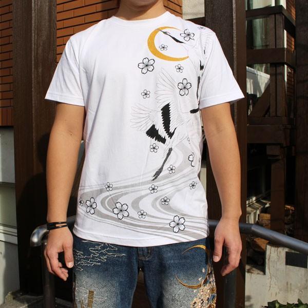 和柄 Tシャツ 半袖 刺繍 メンズ 大きいサイズ 兎 鯨 蛙 2018年新作|tsutsumiya|07