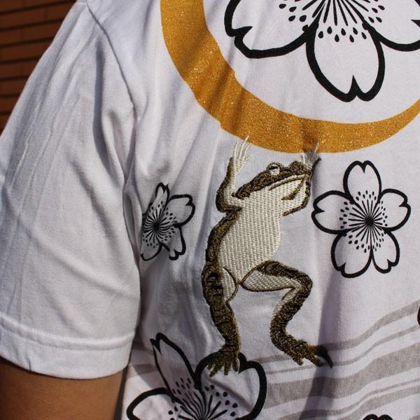 和柄 Tシャツ 半袖 刺繍 メンズ 大きいサイズ 兎 鯨 蛙 2018年新作|tsutsumiya|10