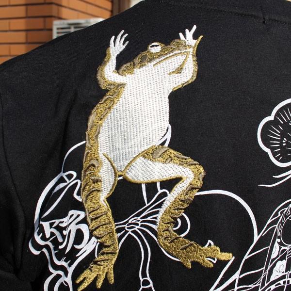 和柄 Tシャツ 半袖 刺繍 メンズ 大きいサイズ 招き猫 2018年新作 tsutsumiya 03