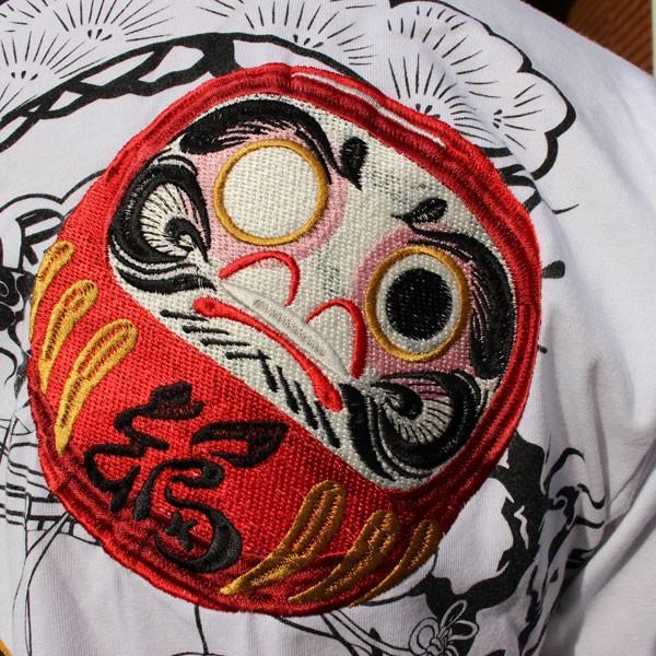 和柄 Tシャツ 半袖 刺繍 メンズ 大きいサイズ 招き猫 2018年新作 tsutsumiya 10