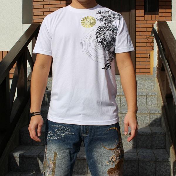 和柄 Tシャツ 半袖 刺繍 メンズ 大きいサイズ 般若 2018年新作|tsutsumiya|06