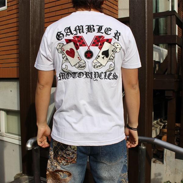 和柄 Tシャツ 半袖 刺繍 メンズ 大きいサイズ 髑髏 2018年新作|tsutsumiya|05