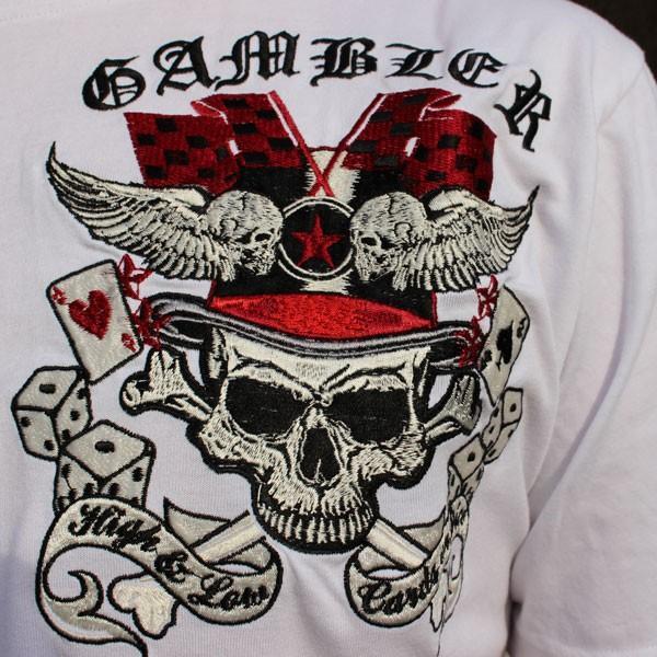 和柄 Tシャツ 半袖 刺繍 メンズ 大きいサイズ 髑髏 2018年新作|tsutsumiya|08