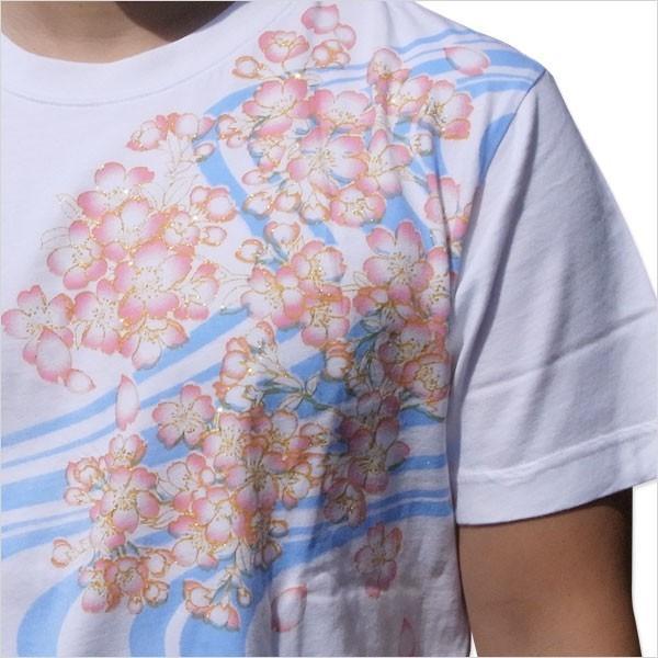 和柄 Tシャツ 半袖 メンズ 金魚 刺繍 大きいサイズ 011611 tsutsumiya 05