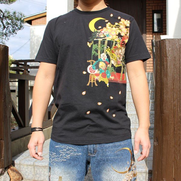 和柄 Tシャツ 半袖 刺繍 メンズ 大きいサイズ 龍 2018年新作 tsutsumiya 02