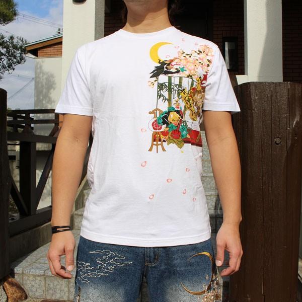 和柄 Tシャツ 半袖 刺繍 メンズ 大きいサイズ 龍 2018年新作 tsutsumiya 06