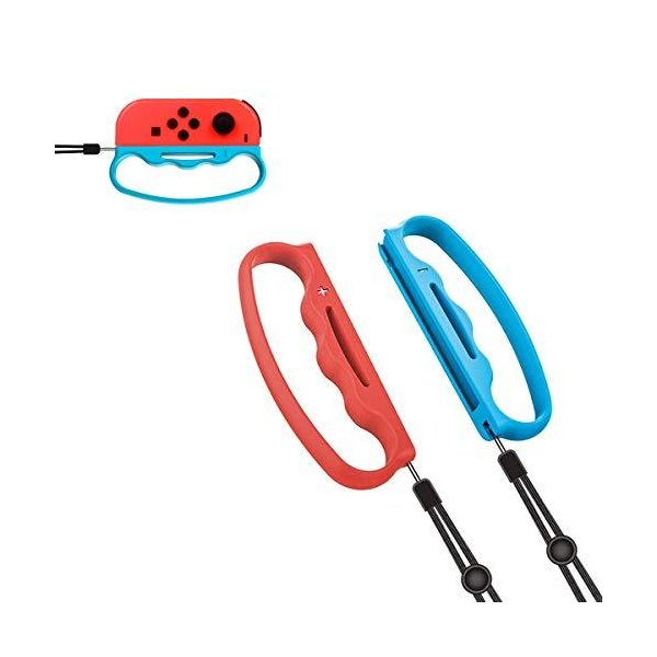 AnnTecFitBoxingコントローラーグリップ2個セット紛失防止ロープ防水ForNintendoSwitchJo
