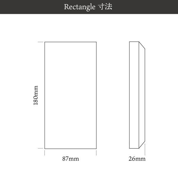 デザイン表札 木製 戸建 送料無料 Rectangle ケヤキ 180mm×90mm×25mm 銘木表札 縦 横 天然木 オリジナル|tttt|02