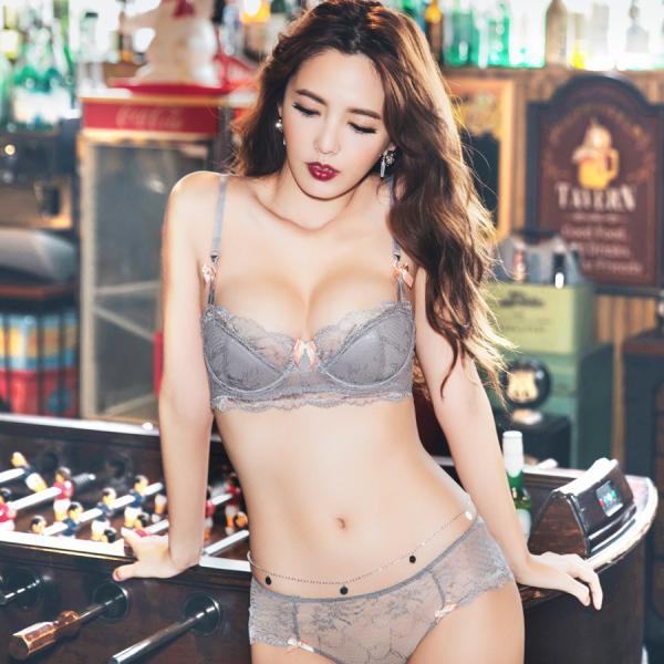 セクシーランジェリー シースルーブラ フラワーレースブラ&ショーツ/グレー a51【tu-hacci/SexyLine〜Adu/アデュー〜】|tu-hacci|05