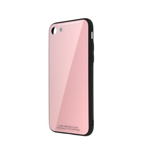 日本トラストテクノロジー TPUGC8-PK ワイヤレス充電対応 TPUガラスケース ピンク 〔iPhone 8/7用〕の画像