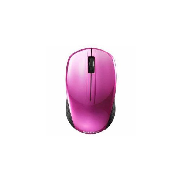 バッファロー 無線 BlueLED マウス BSMBW100PK ピンクの画像