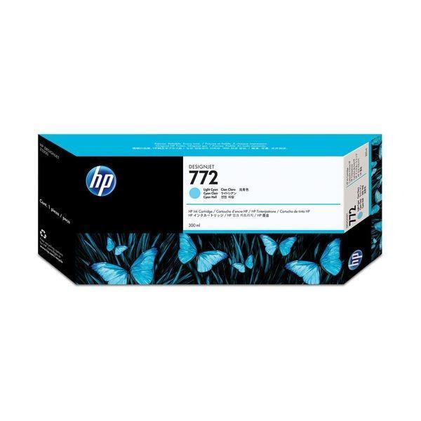 (まとめ) HP772 インクカートリッジ ライトシアン 300ml 顔料系 CN632A 1個 〔×3セット〕 tuhan-station 01