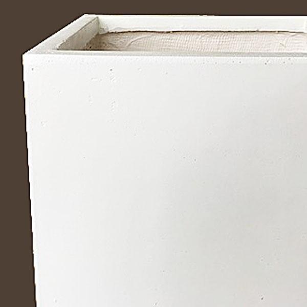 ファイバークレイ製 軽量 大型植木鉢 バスク キューブ 40cm ホワイト|tuhan-station|03