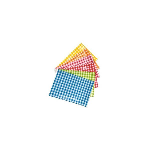 カラーポリ袋 チェック柄(20枚)