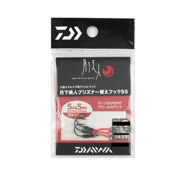 ダイワ(Daiwa) メタルジグ替えフック アジング メバリング 月下美人 白 #6 プリズナー用 サクサス|turaronkon|02