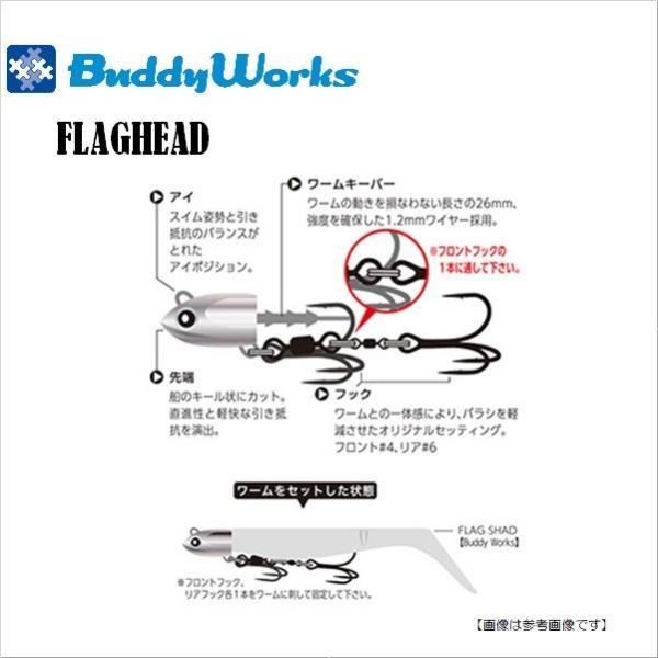 バディーワークス フラッグヘッド 21g SKN メール便配送可|turiguno-fishers|02