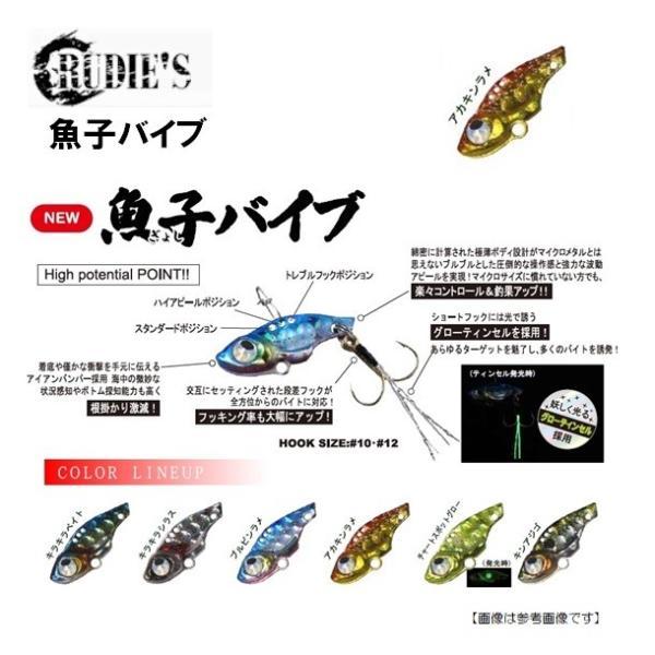ルーディーズ 魚子バイブ 1.5g アカキンラメメール便配送可|turiguno-fishers|02
