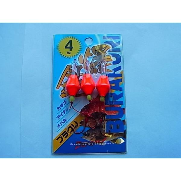 マルシン漁具 ブラクリ仕掛(3個入) 4号