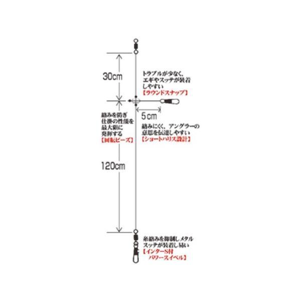 ハヤブサ イカメタルリーダー ショートハリス 2セット入