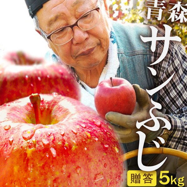 2021年産 【 数量限定 】青森県産りんご 贈答用 サンふじ5kg (約12玉〜18玉)産地直送 お歳暮 ギフト 内のし付き